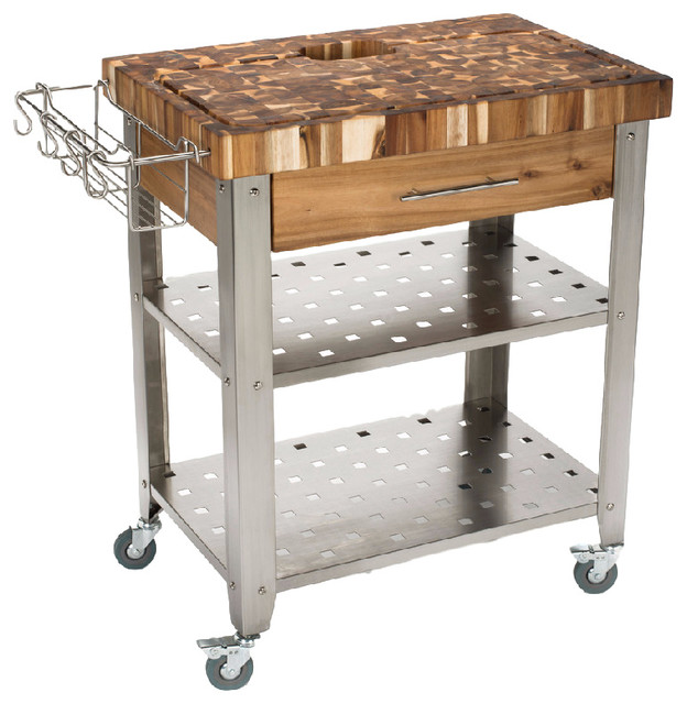 Olympus Kitchen Cart, Acacia.