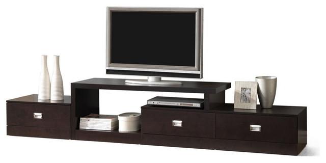 Marconi Brown Asymmetrical Modern Tv Stand.