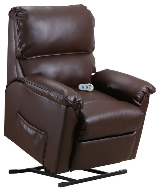 Harold Power Lift Recliner, Brown by Lane Home Furnishings