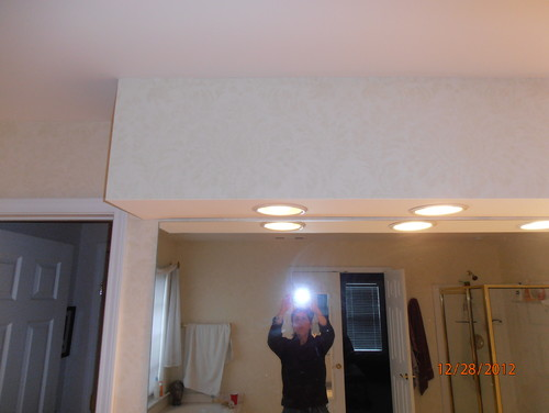 Bathroom Vanity Lights Up Or Down vanity with soffit dilemma & lights - need help please