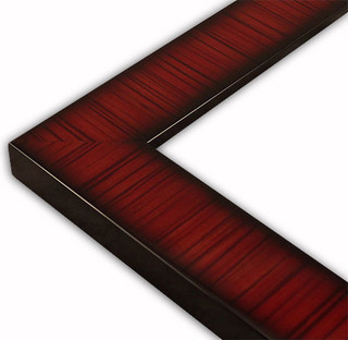 Flat Striped Mahogany, Lacquer Picture Frame-Solid Wood - Traditional ...