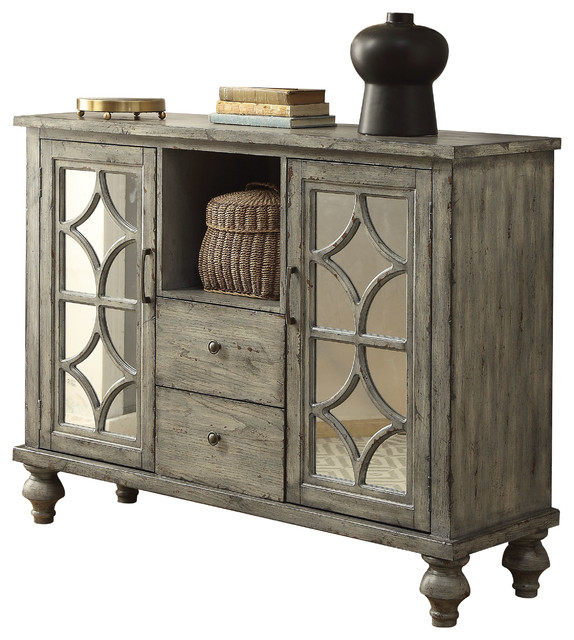 Willie Console Table, Weathered Gray.
