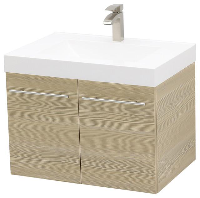 30 Wall Mount Vanity Sink Set White