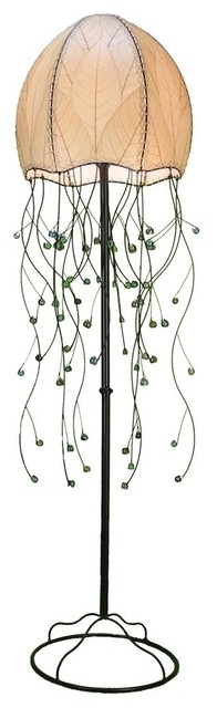 Contemporary Mesh Trellis Floor Lamp