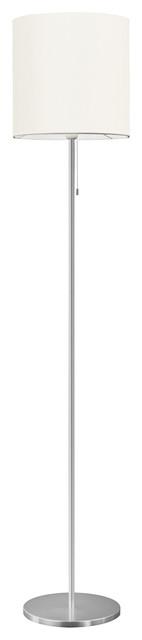 Eglo Lighting 82813a Sendo 1-Light Floor Lamps, Aluminum.