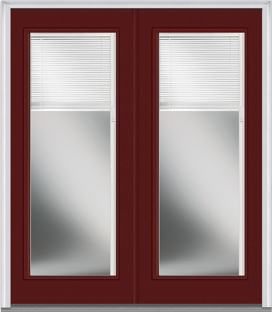 Blinds For Glass Front Doors: Low E Glass Mini Blinds Full Lite Fiberglass