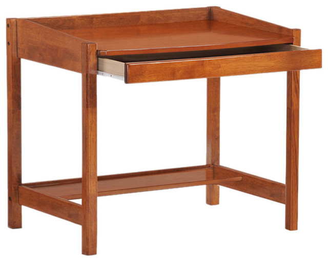 Night And Day Furniture Home Bedroom Zest Student Desk, Cherry Finish