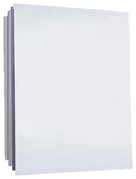 "Euroline Medicine Cabinet, 16""x22"", Polished Edge, Partially Recessed"
