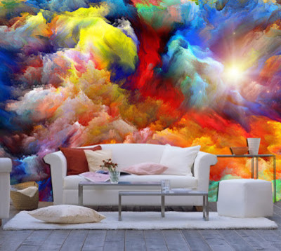 Best 3D wallpaper designs for living room and 3D wall art images | Houzz