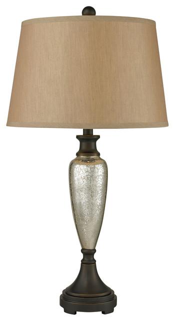 Caldeon Table Lamps, Antique Mercury With Bronze Accents, Standard.