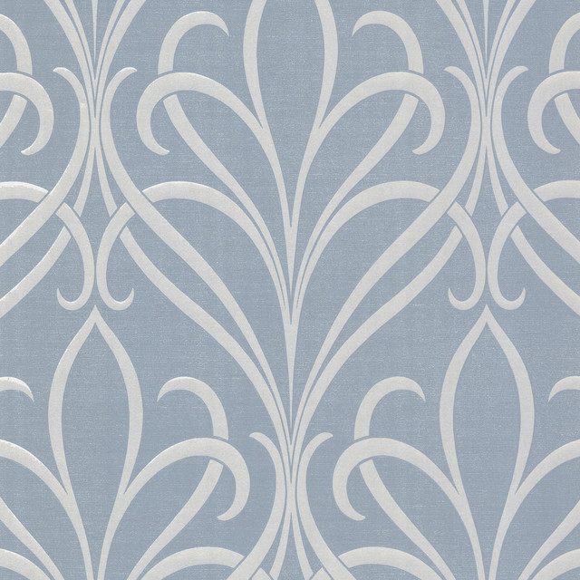 Platinum Decorline Nouveau Damask Wallpaper