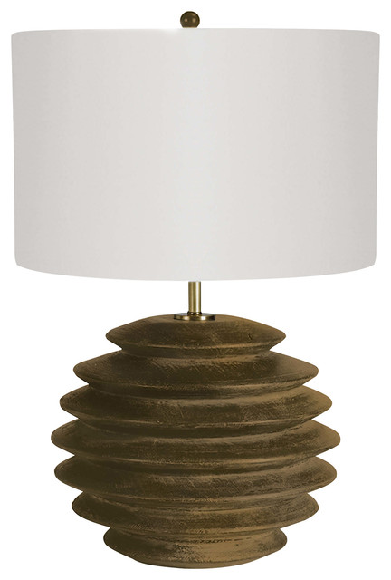 Accordion Table Lamp Round, Natural