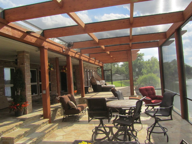 Screened Pergola