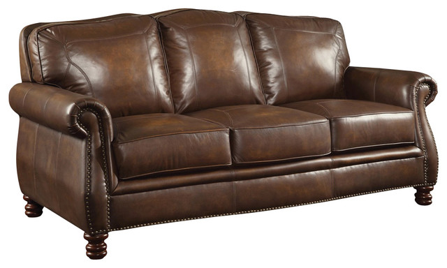 💯[review] Brown Leather Sofa With Nailheads