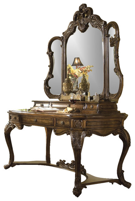 Palais Royale Vanity Writing Desk And Mirror Rococo