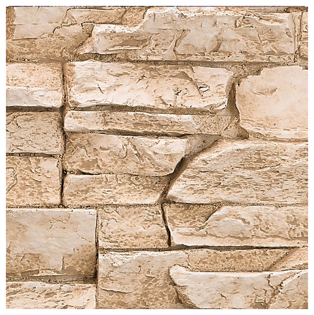 deep stacked stone design wall panel sample almond