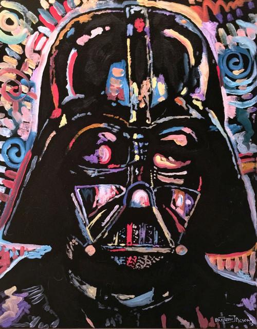"""Star Wars Darth Vader Pop Art Painting 18""""x24"""" by Matt Pecson"""