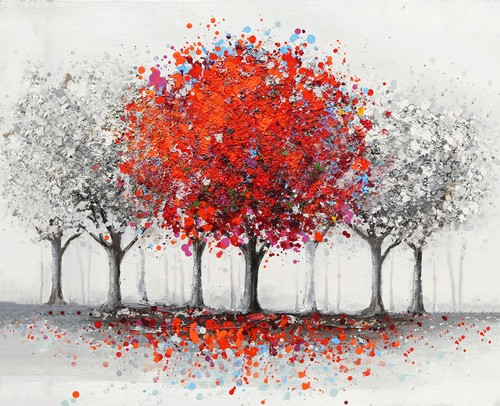 """""""Autumn is Coming"""" Acrylic Painting, 115x80 cm"""