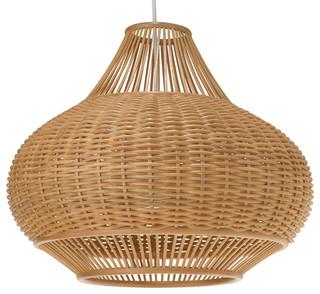 KOUBOO - Wicker Pear Pendant L& Natural - Pendant Lighting  sc 1 st  Houzz & Woven Pendant Lighting | Houzz azcodes.com