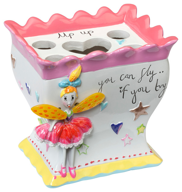 Bathroom Accessories Holder faerie princess toothbrush holder - eclectic - kids bathroom
