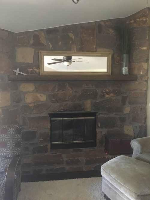 fireplace remodeled makeover stone tag blog