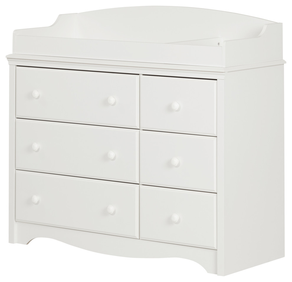 Changing Table With Drawers In Pure White