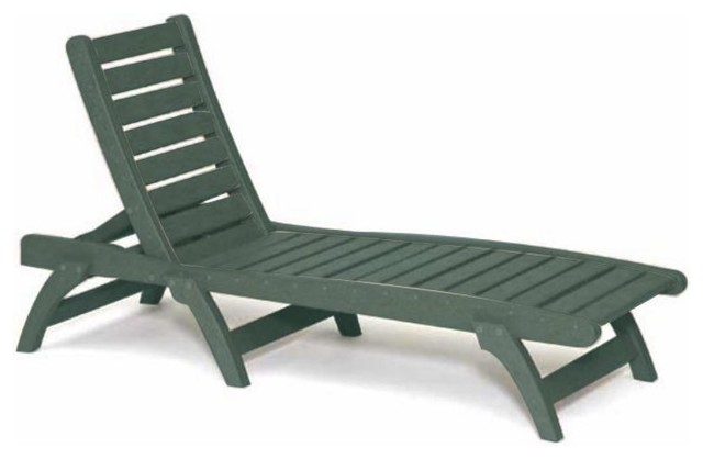 Recycled plastic chaise lounge contoured design green traditional outdo - Chaise plexiglass design ...