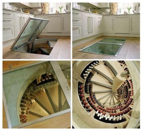Spirall Cellars modern wine cellar