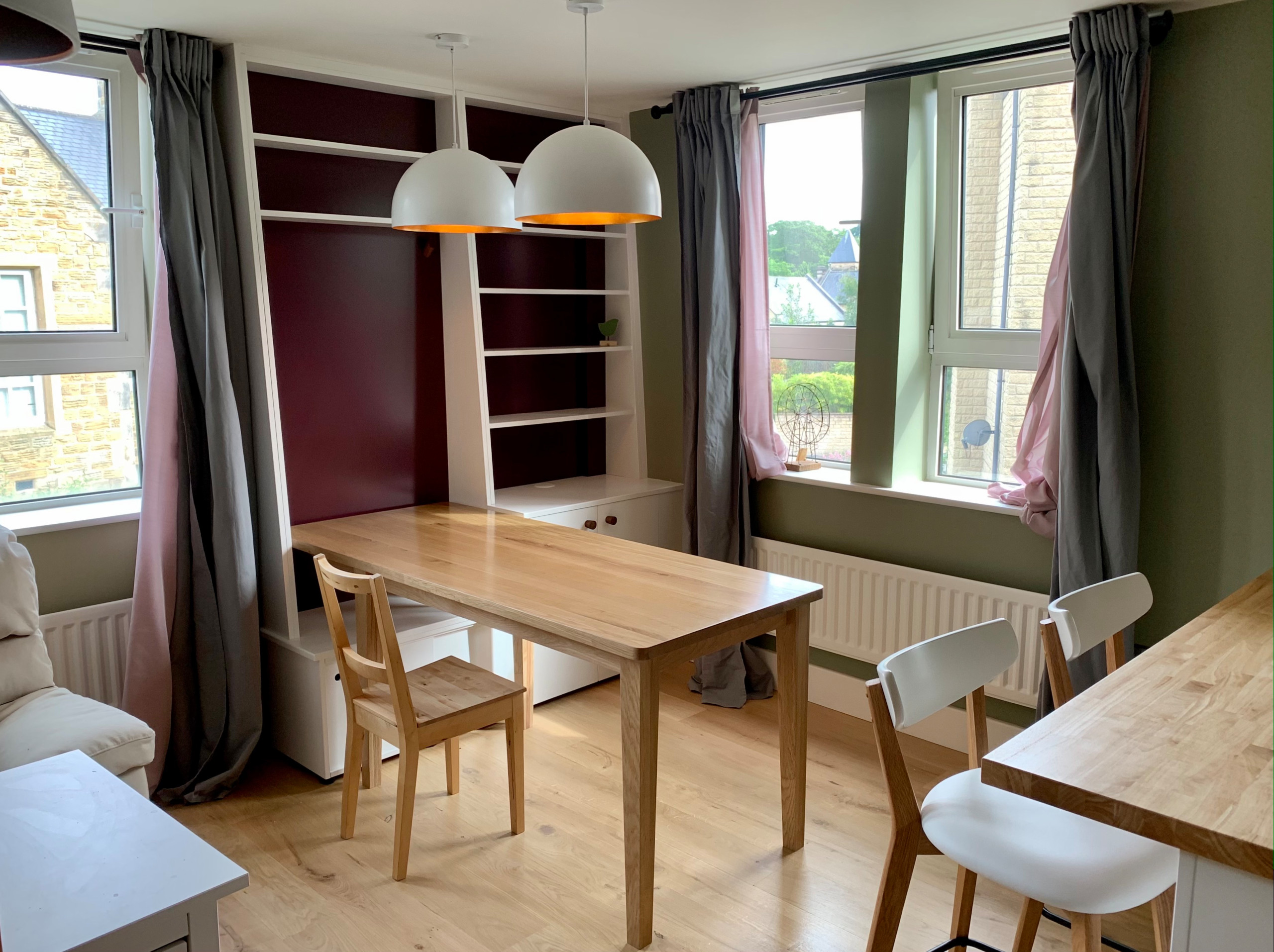 Scandi Style cabinets and bespoke table