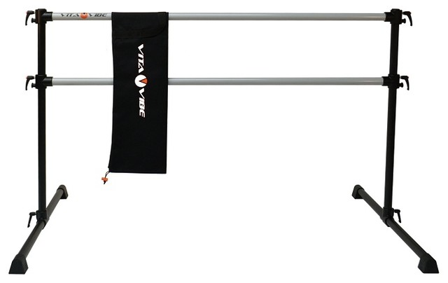 Vita Vibe Professional Double Bar Ballet Barre And Bag Travel Set 5 Foot