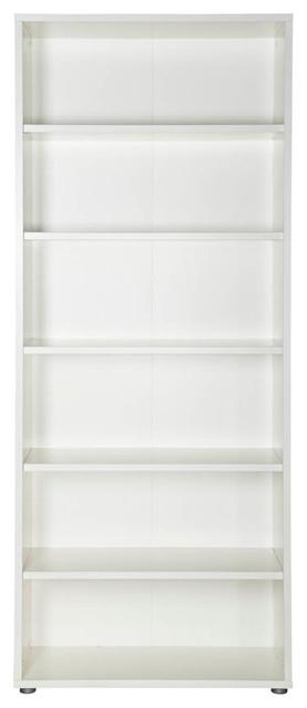 Tvilum Pierce 6 Shelf Bookcase in White