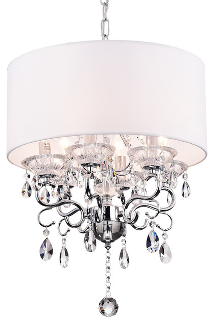 Drum Shade Ceiling Fixture - Contemporary - Chandeliers - by ...