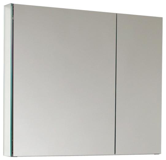 """Fresca 2-Door Bathroom Medicine Cabinet With Mirrors, 30"""" - Modern - Medicine Cabinets - by Fresca"""