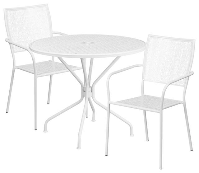 Indoor Outdoor Steel Patio Table Set