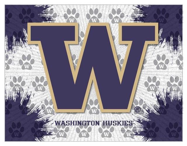 Washington Huskies Stretched Canvas Wall Art Traditional