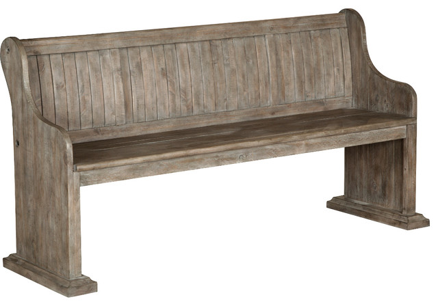 Fine Magnussen Tinley Park Bench With Back In Dove Tail Gray Machost Co Dining Chair Design Ideas Machostcouk