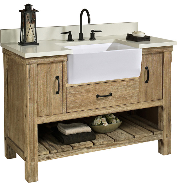 Fairmont Designs Napa 48 Single Vanity Sonoma Sand Base Cabinet Only Transitional Bathroom Vanities And Sink Consoles By Luxx Kitchen And Bath