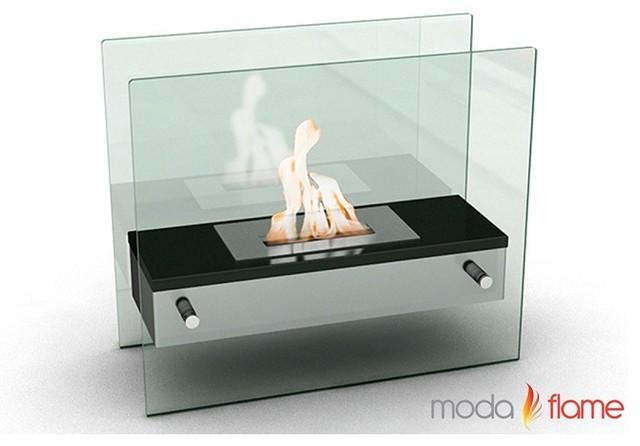 Moda Flame Naples H Tabletop Firepit Bio Ethanol Ventless Fireplace Black  Contemporary Tabletop