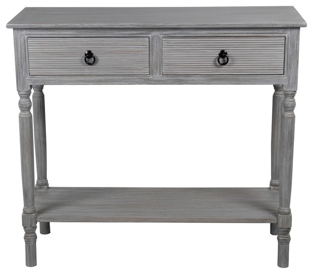 Slate Coffee Table With Drawers: 2-Drawer Console Table, Slate Gray