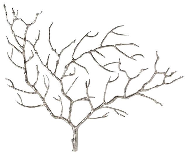Metal Wall Art Tree arteriors edwin tree wall sculpture - contemporary - metal wall