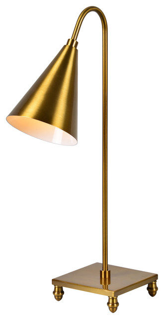 Evaline Dawn 1-Light Table Lamp, Antique Gold.