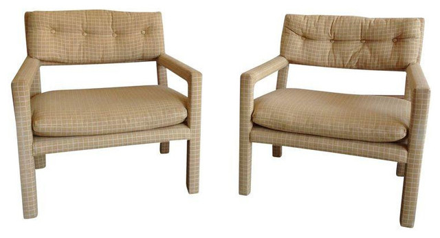 Milo Baughman Style Parsons Chairs