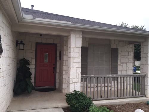 Don't know what color to paint this house is a white stone