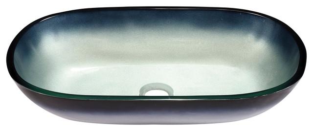 Oblong Glass Sink Bowl.