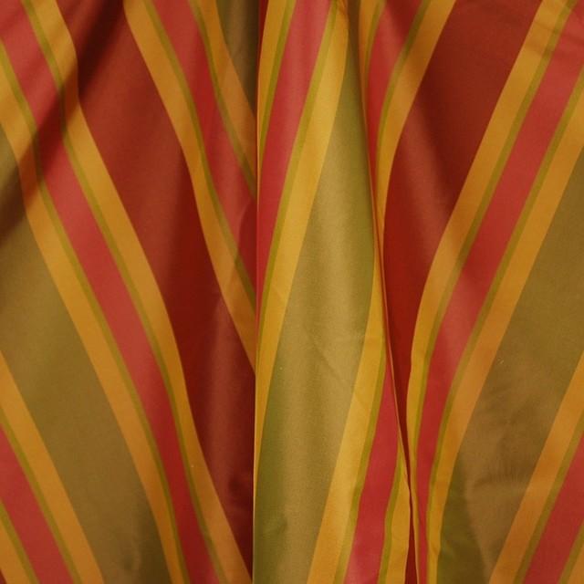 Solon Terra Cotta Silk Taffeta Fabric