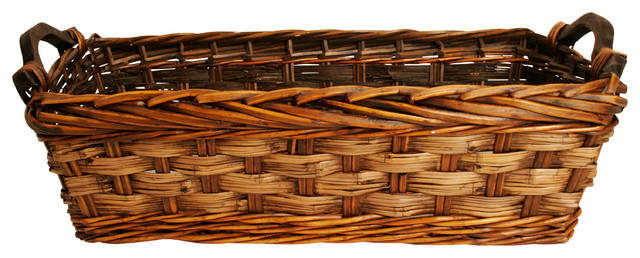 Wald Imports Brown Willow Decorative Storage Basket