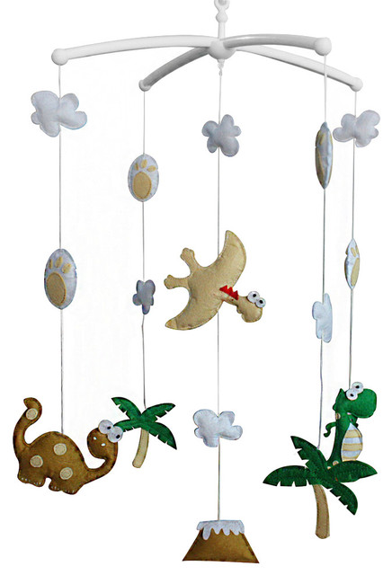 [Dinosaur] Cute Crib Mobile Infant Bed Hanging Bell Crib Musical Toy  contemporary-baby - Dinosaur] Cute Crib Mobile Infant Bed Hanging Bell Crib Musical