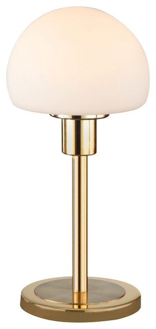 Wilhelm Led Table Lamp With Glass, Brass Matte.