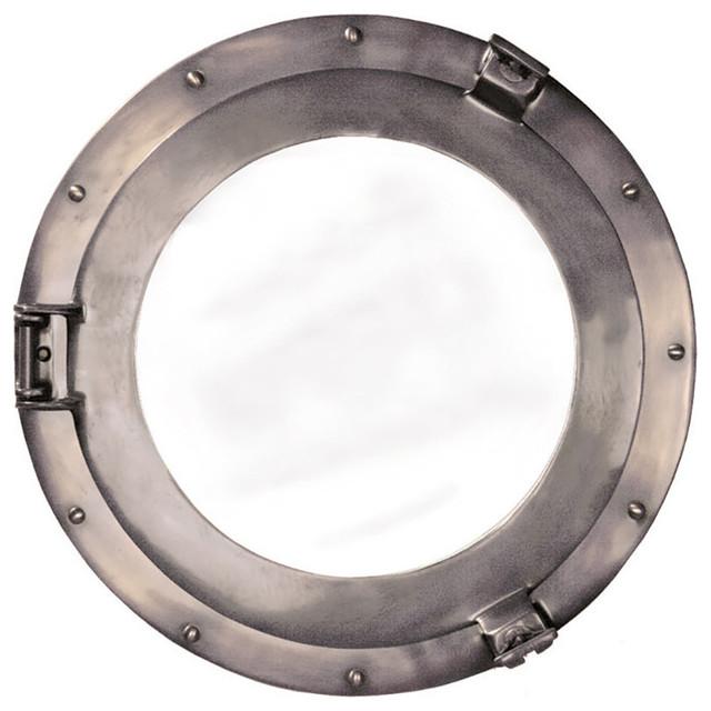 Porthole Locket Mirror, Medium.