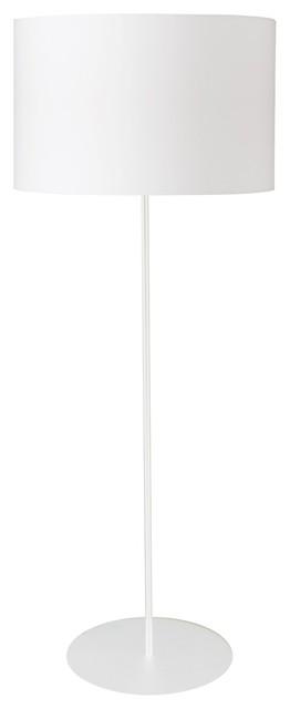 Maine 1-Light Drum Floor Lamp, Shade: Matte White
